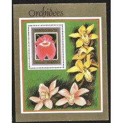 V) 1999 BENIN, FLOWERS, ORCHIDEES, MILTONIA, SOUVENIR SHEET, MNH