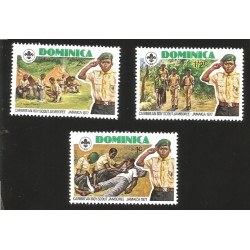 A) 1961 SURINAM, PEOPLE, WOOD FIRE, CAMP, SCOUT, WOMEN, SET OF 2, FDC.