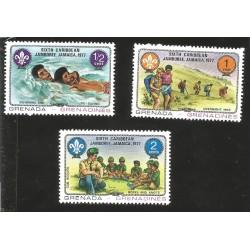 V) 1977 GRENADA, SIXTH CARIBBEAN BOY SCOUT JAMBOREE, MNH