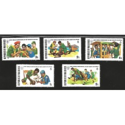 V) 1973 MALDIVE ISLANDS, FIRST WORDLD CONFERENCE OF BOY SCOUTS IN AFRICA, MNH