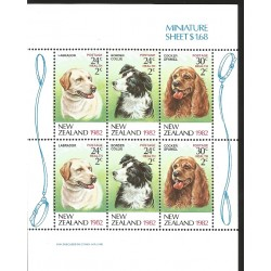 V) 1982 NEW ZEALAND, DOGS, MNH
