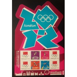 O) 2012 CHINA, ODD SHAPE, GAMES OF THE XXX OLYMPIAD- OLYMPIC -CYCLING ATHLETICS -BASKETBALL -SWIMMING, MNH