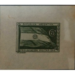 O) 1912 ARGENTINA. PROOF, SEMI OFFICIAL STAMP- FLAG - PRO MILITARY AVIATION 1912, XF