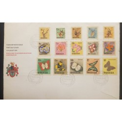 O) 1974 RHODESIA, BUTTERFLIES - PEARL CHARAXES - SHOWN - YELLOW PANSY - LIKE, ANIMALS - KUDU -THUBERGIA -PEARL -SHOWN -ELAND