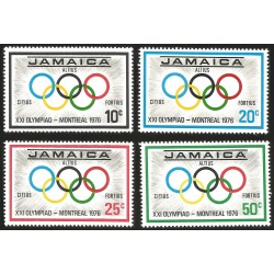 V) 1976 JAMAICA, 21ST OLYMPIC GAME, MONTREAL CANADA, SET OF 4, MNH