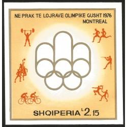 V) 1976 ALBANIA, OLYMPIC GAME, MONTREAL CANADA, SOUVENIR SHEET, MNH