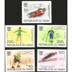 V) 1976 NIGER, 12TH WINTER OLYMOIC GAME, AUSTRIA, INNSBURCK, MNH
