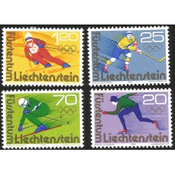 V) 1976 LIECHTENSTEIN, 12TH WINTER OLYMPIC GAME INNSBRUCK, AUSTRIA, SET OF 4, MNH