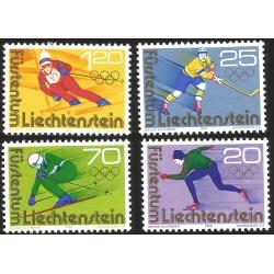 V) 1976 LIECHTENSTEIN, 12TH WINTER OLYMPIC GAME INNSBRUCK, AUSTRIA, SET OF 4, MNH
