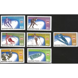 V) 1975 HUNGARY, 12TH WINTER OLIMPIC GAME, INNSBRUCK AUSTRIA , SET OF 7, MNH