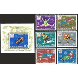 V) 1976 ROMANIA, 12TH WINTER OLYMPIC GAMES, INNSBRUCK, AUSTRIA, MNH