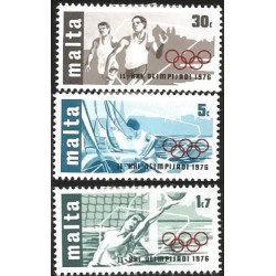 V) 1976 MALTA, 21ST OLYMPIC GAMES, MONTREAL, CANADA, MNH