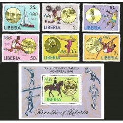V) 1976 LIBERIA, 21ST OLYMPIC GAMES, MONTREAL, CANADA, MNH