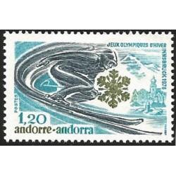 V) 1976 ANDORRA, 12TH WINTER OLYMPIC GAMES, INNSBRUCK, AUSTRIA, MNH