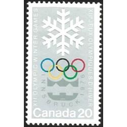 V) 1976 CANADA, 12TH WINTER OLYMPIC GAMES, INNSBRUCK, AUSTRIA, MNH