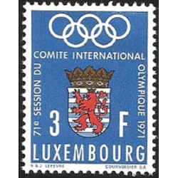 V) 1971 LUXEMBOURG, INTL. OLYMPIC COMMITTEE, 71ST SESSION, MNH