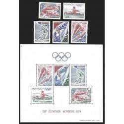 V) 1976 MONACO, OLYMPIC GAMES, MONTREAL, CANADA