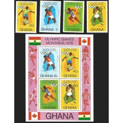 V) 1976 GHANA, 21ST OLYMPIC GAMES, MONTREAL, CANADA, MNH
