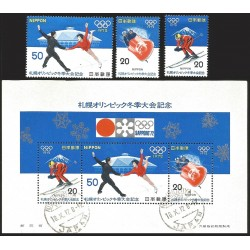 V) 1972 JAPAN, 11TH WINTER OLYMPIC GAMES, SAPPORO, MNH