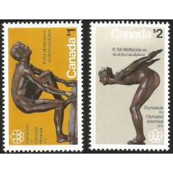 V) 1975 CANADA, 21ST MONTREAL OLYMPIC GAMES, SCULPTURES BY ROBERT TAIT MCKENZIE, MNH