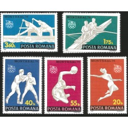 V) 1976 ROMANIA, 21ST OLYMPIC GAME, MONTREAL CANADA, BOXING, HANDBALL, MAN SCULL, GYMNAST, MNH