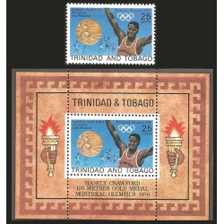 V)1976 TOBAGO, OLYMPIC GAMES MONTREAL, HASELY CRAWFORD, MNH