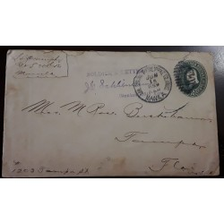 O) 1899 PHILIPPINES- US POSSESSIONS,  SOLDIER´S LETTER , PHILIPPINE ISLANDS - MANILA, CHAPLAIN,  WASHINGTON 2c POSTAL STATIONERY