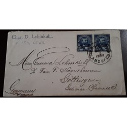 O) 1902 GUAM, US POSSESSIONS, AGAÑA GUAM, ISLAND OF GUAM, JAMES A. GARFIELD 5c, TO GERMANY, XF