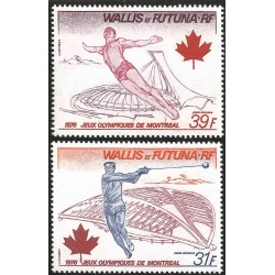 V) 1976 WALLIS AND FUTUNA ISLANDS, MONTREAL OLYMPIC GAMES, MNH