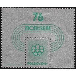 V) 1976 POLAND, OLYMPIC GAME, MONTREAL CANADA, MNH