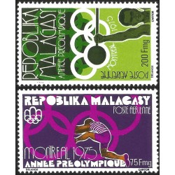 V) 1975 MALAGASY, PRE-OLYMPIC YEAR, MONTREAL 76, MNH