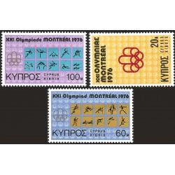V) 1975 CYPRUS, OLYMPIC GAMES MONTREAL, MNH