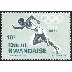 V) 1964 RWANDAISE, 18TH OLYMPIC GAMES, TOKYO, MNH