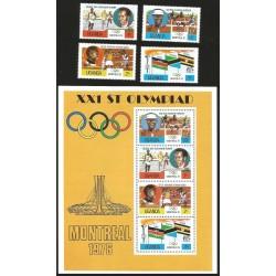 V) 1976 UGANDA, 21ST OLYMPIC GAMES, MONTREAL, CANADA, MNH