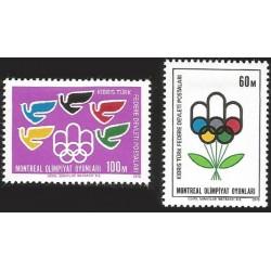 V) 1976 TURKISH CYPRUS, OLYMPIC GAMES MONTREAL, MNH
