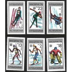 V) 1976 BULGARIA, INNSBRUCK 76 OLYMPIC GAMES, MNH