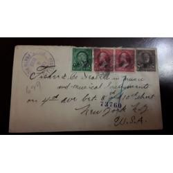 O) 1899 PUERTO RICO. US OCCUPATION, OVERPRINTED IN BLACK, FRANKLIN 1c, WASHINGTON 2c, SHERMAN 8c, PORTO RICO TO USA