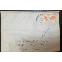 O) 1946 CANAL ZONE - POSSESSIONS, GAILLARD CUT SC C9 10c - DIABLO HEIGHTS , AIRMAIL, XF