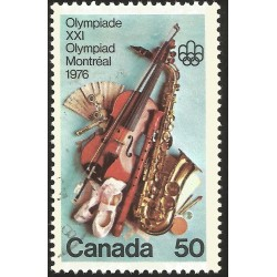 V) 1976 CANADA, OLYMPIC FINE ARTS AND CULTURAL PROGRAM, USED