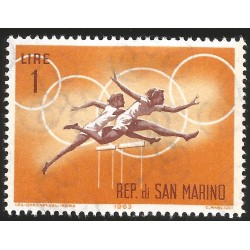 V) 1963 SAN MARINO, PUBLICITY FOR 1964 OLYMPIC GAMES, MNH