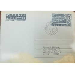 R) 1953 CHILE, ISLAND JUAN FERNANDEZ TO THE UNITED STATES AIR MAIL, CUTE ABOUT ADVERTISING