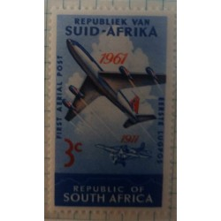 O) 1961 SOUTH AFRICA, BOEING 707 AND BELRIOT MONOPLANE SC 280, FIRST AERIAL POST, MNH