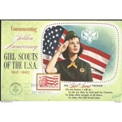 J) 1962 UNITED STATES, MASONIC GRAND LODGE, COMMEMORATING GOLDEN ANNIVERSARY GIRL SCOUTS OF THE USA