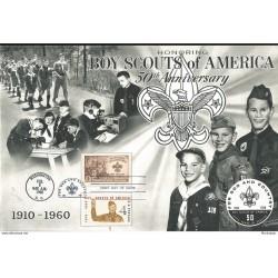 J) 1960 UNITED STATES, MASONIC GRAND LODGE, HONORING BOY SCOUTHS OF AMERICA, 50th ANNIVERSARY, FDC