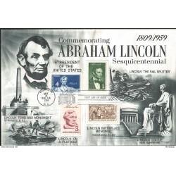 J) 1959 UNITED STATES, MASONIC GRAND LODGE, COMMEMORATING ABRAHAM LINCOLN SESQUICENTENNIAL