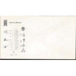 J) 1973 UNITED STATES, MASONIC GRAND LODGE, ORDERS OF MASONRY, FDC