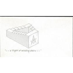 J) 1973 UNITED STATES, MASONIC GRAND LODGE, A FLIGHT OF WINDING STAIRS, FDC