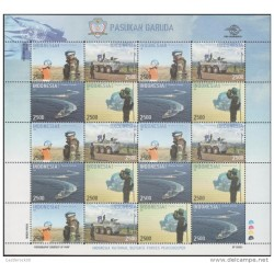 RO) 2013 INDONESIA, PEACE MAINTENANCE -GARUDA CONTINGENT -SOLDIERS -TRUCK TANKS, BOATS, ARMED FORCE ARMY, BLOCK MNH