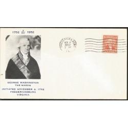 J) 1952 UNITED STATES, MASONIC GRAND LODGE, GEORGE WASHINGTON THE MASON INITIATED NOVEMBER