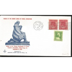 J) 1967 UNITED STATES, MASONIC GRAND LODGE, ISSUED AT THE GRAND LODGE OF PENNA, DEDDICATION